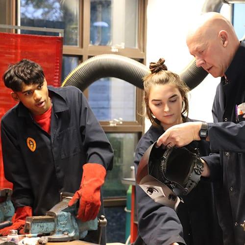 Richmond School – Students in Workshop